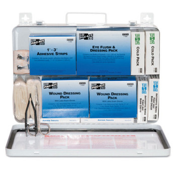First Aid Only 50 Person Industrial First Aid Kits, Weatherproof Steel (1 KIT)