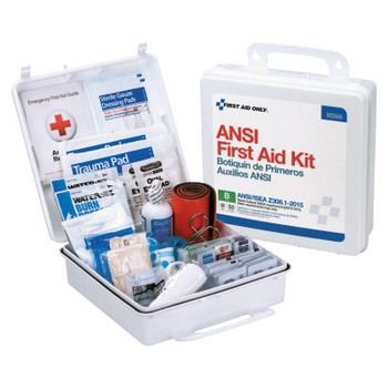 First Aid Only ANSI B Type III Weatherproof 50 Person Bulk First Aid Kits, Plastic, Wall Mount (1 EA)