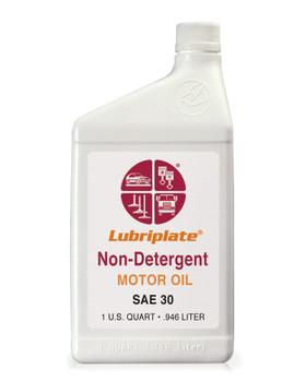 LUBRIPLATE NON-DET. MOTOR OIL -  30, 1 qt. Bottle, (12 BTL/CS)