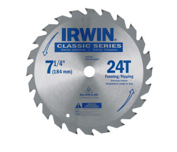 Stanley Products Carbide-Tipped Circular Saw Blades, 7 1/4 in, 24 Teeth (1 EA)