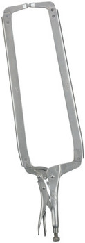 Stanley Products Locking C-Clamps with Regular Tips, Vise Grip, 15 1/2 in Throat Depth (1 EA)