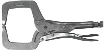 Stanley Products Locking C-Clamps with Regular Tips, Vise Grip, 1 1/2 in Throat Depth (1 EA)
