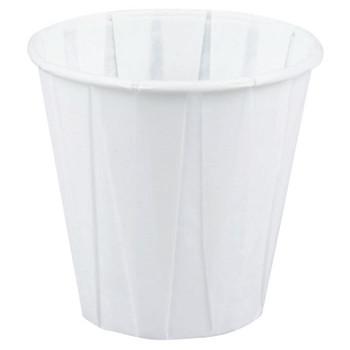 Genpak Paper Drinking Cups, 3 1/2 oz, White (2500 EA)