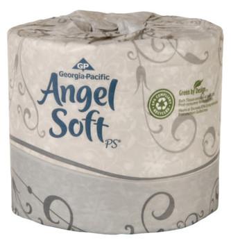 Georgia-Pacific Angel Soft ps 2-Ply Premium Embossed Bathroom Tissue, 4.05 x 4, 135 ft (1 CA)