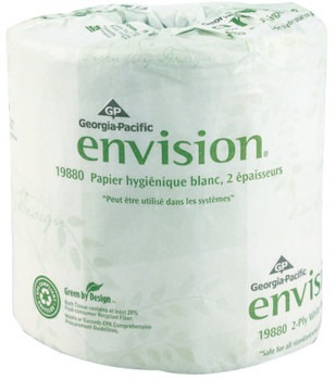 Georgia-Pacific Envision Bathroom Tissue, 4.05 in x 4 in, 185.625 ft (1 CA)