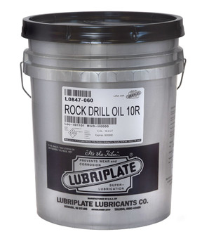 LUBRIPLATE ROCK DRILL OIL 10R, 05gal., (1 PAIL/EA)