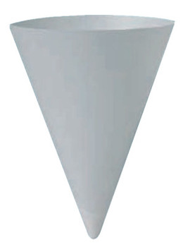 Solo Paper Cone Water Cups, 6 oz, White (1 CA)