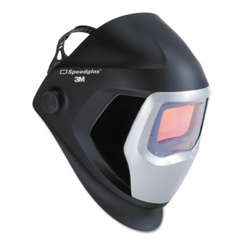 3M Speedglas 9100 Series Helmets, 8-13; Black and Silver, w/side window, 4.2 x 2.1 (1 EA)