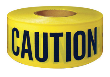 Intertape Polymer Group Barricade Tape, 3 in x 300 ft, Yellow, Caution (1 ROL)