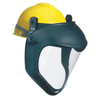 Honeywell Bionic Face Shield with Hard Hat Adapter, Clear/Black (1 EA)