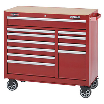 Waterloo 11-Drawer Cabinet, 41 in x 18 in x 40.75 in, 13,454 cu in, Red (1 EA)