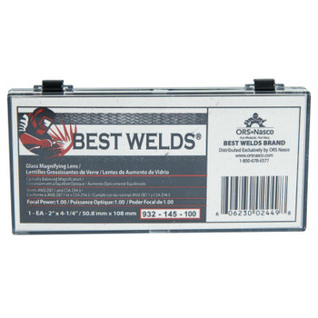 Best Welds Glass Magnifier Plate, 2 in x 4.25 in, 1 Diopter, Clear (1 EA)