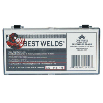 Best Welds Glass Magnifier Plate, 2 in x 4.25 in, 1.75 Diopter, Clear (1 EA)