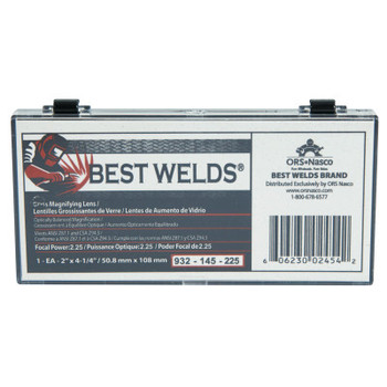 Best Welds Glass Magnifier Plate, 2 in x 4.25 in, 2.25 Diopter, Clear (1 EA)