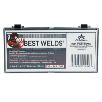 Best Welds Glass Magnifier Plate, 2 in x 4.25 in, 3 Diopter, Clear (1 EA)