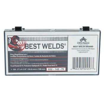 Best Welds Glass Magnifier Plate, 2 in x 4.25 in, 0.75 Diopter, Clear (1 EA)