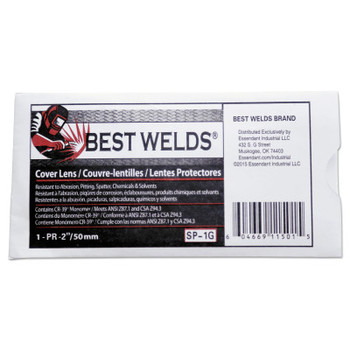 Best Welds Cover Lens, 6 3/8 in x 3 13/16 in, Polycarbonate, Clear (10 EA)