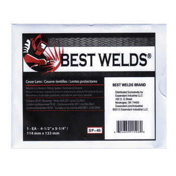 Best Welds Cover Lens, Scratch/Static Resistant, 5 1/4 in x 4 1/2 in, 100% CR-39 Plastic (1 EA)