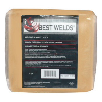 Best Welds Welding Blankets, 6 ft X 6 ft, Fiberglass, Yellow (1 EA)