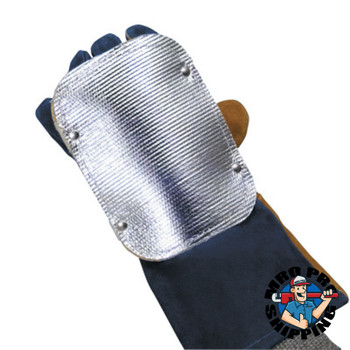 "Best Welds Back Hand Pad, Single Layer, 7"", Elastic/High-temp Kevlar Strap Closure, Silver (1 EA)"