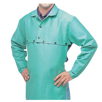 Best Welds Cotton Sateen Cape Sleeves, 14 in Long, Snaps Closure, X-Large, Visual Green (1 EA)