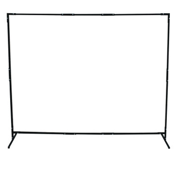 Best Welds Curtain Frame, 6 ft X 6 ft Expandable to 6 ft X 8 ft, Steel, Black (1 EA)