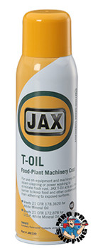 JAX #139 T-OIL FOOD PLANT MACHINERY COATING USDA / NSF H1, 11 oz. Aerosol, (1 CAN/EA)