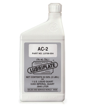 LUBRIPLATE AC-2 (AIR COMPRESOR OIL), 1 Quart, (1 BTL/EA)