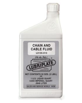 LUBRIPLATE CHAIN & CABLE FLUID, 2 lb. Bottle, (1 BTL/EA)