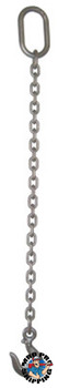 "ACCO Chain 3/8"" SINGLE LEG CHAIN SLING WITH GRAB HOOKS 5' (1 EA/CT)"