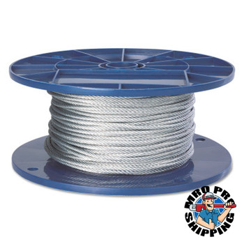 Peerless Fiber Core Wire Ropes, 6 Strands, 19 Strands/Wire, 3/8 in, 2,400 lb Load (500 FT/EA)