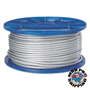 Peerless Aircraft Quality Wire Ropes, 7 Strands, 7 Strands/Wire, 3/16 in, 184 lb Load (250 FT/EA)