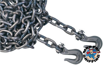 ACCO Chain Grade 40 High Test Chains, Size 1/4 in, 2,600 lb Limit, Bright Zinc (800 DRM/EA)