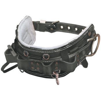 "Honeywell Linemen's Belts, 2 Compartments, 5"" Full Floating Belt, 23 in, Black Leather (1 EA/DZ)"