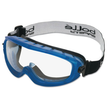 Bolle Atom Safety Goggles, Clear/Blue, Indirect Lower Vents (1 PR/BG)