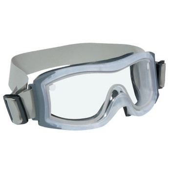 Bolle DUO Safety Goggles, AntiScratch/AntiFog, Clear Poly, Cloth Strap, Frosted Frame (1 PR/DZ)