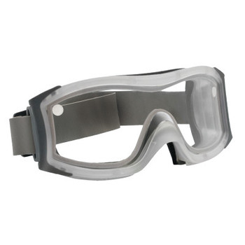 Bolle DUO Safety Goggles, AntiScratch/AntiFog, Clear Poly, Neoprene Strp,Frosted Frame (1 PR/DZ)