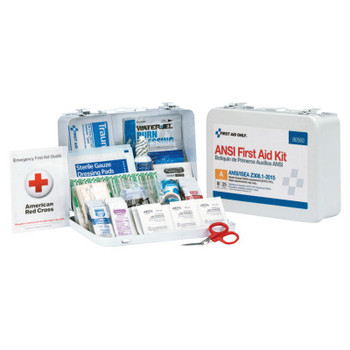 First Aid Only ANSI A Type III Weatherproof Bulk First Aid Metal Kits, 25 Person, Wall Mount (1 EA/DZ)