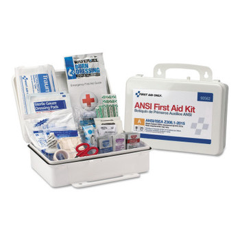 First Aid Only 90562 25 Person First Aid Kit, 89 Pieces, 9.5 in x 6.5 in x 3 in (1 EA/CA)