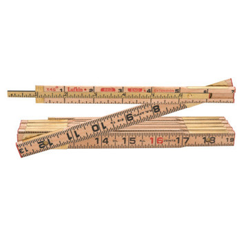 Apex Tool Group Red End Extension Rulers, 6 ft, Wood, 1 Scale (1 EA/DZ)