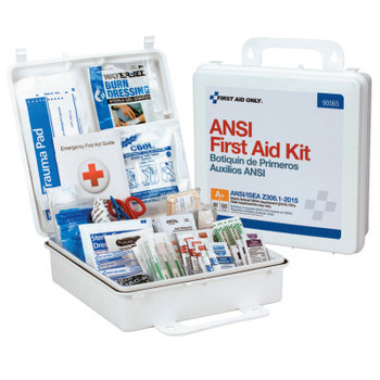 First Aid Only ANSI Compliant First Aid Kits, 50 Person, Weatherproof Plastic (6 CA/CA)