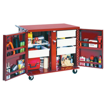 Apex Tool Group Rolling Work Benches, 43 7/8W x 26 7/8D x 40 1/2H, 2 Doors, 2 Drawers, 2 Shelves (1 EA/DZ)