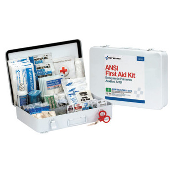 First Aid Only ANSI B Type III Weatherproof 50 Person Bulk First Aid Kits, Metal, Wall Mount (1 EA/DZ)