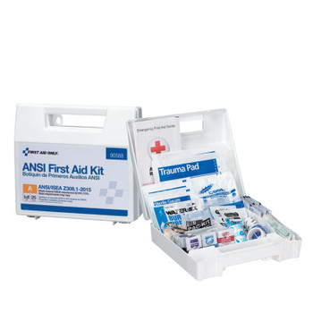 First Aid Only Bulk First Aid Kits, 25 Person, Plastic, Portable, Wall Mounted (1 EA/CA)