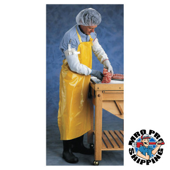 Ansell CPP Supported Neoprene Apron, 35 in x 45 in, Yellow (12 CA/DZ)