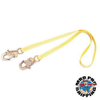 Capital Safety D-Ring Extension Harness Accessories, 1.5ft, Snap Hook/D-Ring Connection, Yellow (1 EA/DZ)