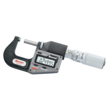"""L.S. Starrett 3732 Series Electronic Micrometer without Output, 0""""-1"""", .0001"""", Inch/Metric (1 EA/CA)"""
