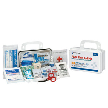 First Aid Only Bulk First Aid Kits, 10 Person, Plastic, Portable, Wall Mounted (12 EA/CA)