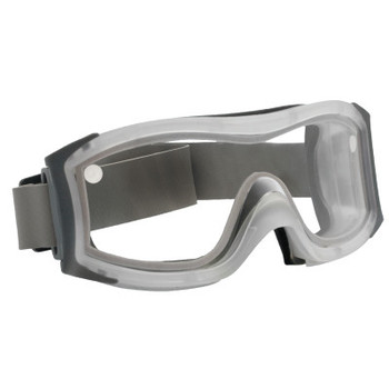 Bolle DUO Safety Goggles, Smoke Dual Polycarbonate Lens, Cloth Strap, Frosted Frame (1 PR/EA)