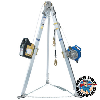 Capital Safety Advanced Tripod, Salalift II Winch and Sealed-Blok 3-Way SRL, 60 ft (1 EA/EA)